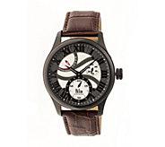 Reign Bhutan Automatic Watch - Black/Brown - J380342