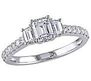 Affinity 14K Gold 1.25 cttw Emerald-Cut Diamond3-Stone Ring - J381342