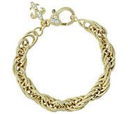 Judith Ripka Verona 14K Clad Bold Multi-link Bracelet, 17.0g - J381442