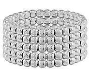 Italian Silver Set of 5 Beaded Rings - J382742