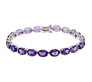24.00 ct tw African Amethyst 8 Sterling Tennis Bracelet - J275743