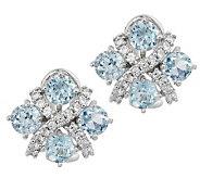 Judith Ripka Sterling 3.80ct Sky Blue Topaz Criss Cross Button Earrings - J282743