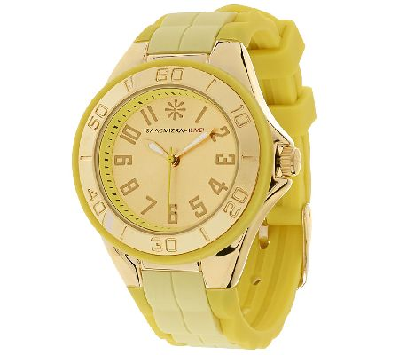 Isaac Mizrahi Live! Colorful Silicone Strap Watch - Page 1 ...
