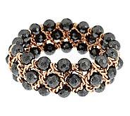 Bronze Hematite Bead Stretch Bracelet by Bronzo Italia - J291743