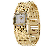 As Is TOVA Diamonique_1/2 ct tw Panther Link Watch - J294643