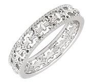 Simply Stacks Sterling Polished Fleur-de-Lis Ring - J299143