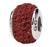 Prerogatives Sterling Maroon Full Swarovski Crystal Bead - J299643