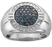 Affinity Diamond 1 cttw Gentlemans Ring, Sterling - J303143