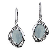 Hagit Gorali Sterling Milky Aquamarine Dangle Earrings - J306443