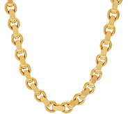 Oro Nuovo 18 Oval Rolo Link Necklace with Magnet, 14K - J317143