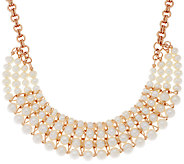 Honora Cultured Pearl Graduated Multi-strand Bronze Necklace - J319243