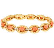 The Elizabeth Taylor Coral Rope Bracelet - J323343
