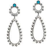 Sterling Silver Open Teardrop Gemstone Earrings by American West - J324043