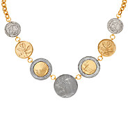 As Is Veronese 18K Clad Lire Coin 18 Necklace - J325643
