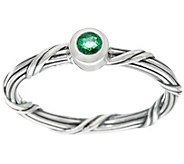 Peter Thomas Roth Sterling Signature Romance Emerald Ring - J331243
