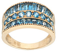 As Is Round & Baguette  Semi- Precious Gemstone Ring, 14K, 2.5cttw - J331443