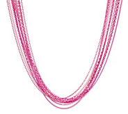 As Is Susan Graver Liquid Multi-Chain Colored Sparkle Necklace - J334043