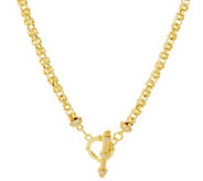 Judith Ripka Verona 24 14K Clad Byzantine Necklace 34.5g - J334443