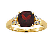 Cushion-Cut Gemstone w/ Butterfly Accent Ring,14K Yellow Gold - J336643