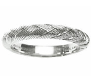 Judith Ripka Sterling Braided Berge Band Ring - J336843