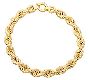 EternaGold 8 Bold Rope Bracelet 14K Gold, 9.1g - J337443