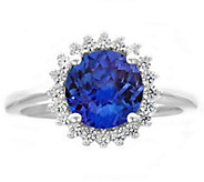 Premier 2.00cttw Round Tanzanite & Diamond Ring, 14K - J338243