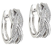Braided Diamond Hoop Earrings, 1/4cttw, Sterling, by Affinity - J339243