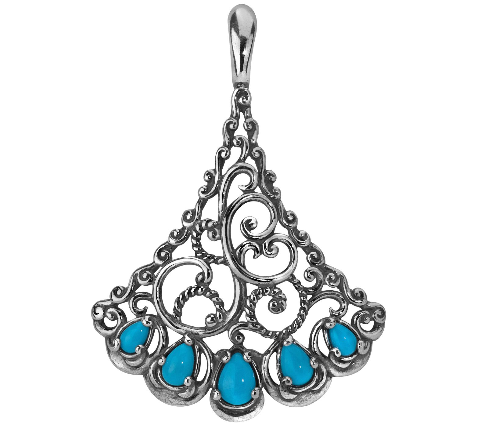 Carolyn pollack trumpet vine sterling turquoise enhancer for Carolyn pollack jewelry qvc