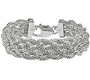 Sterling Mesh 5-Strand Braided 7-3/8 Braceletby Silver Style - J342043
