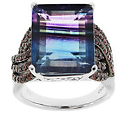 Sterling Silver 14.00 cttw Bi-Color Fluorite &Rhodolite Ring - J343643