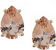 Pear Shaped 2.50 cttw Morganite Stud Earrings,14K - J343843