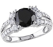 Round Black Diamond Ring, 14K, 2.65 cttw, by Affinity - J344143