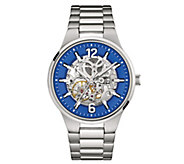 Caravelle New York Mens Automatic Watch, BlueTranparent Dial - J344443