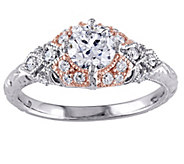Round Diamond Ring, 14K, 1.00 cttw, by Affinity - J344543