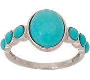 Oval & Round Sleeping Beauty Turquoise Sterling Ring - J347743