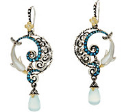Barbara Bixby Sterling & 18K Gemstone Dolphin Drop Earrings - J349043