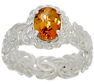 Sterling Silver Byzantine Gemstone Ring by Silver Style - J349843