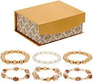 Susan Graver Set of 6 Stretch Bracelets in a Gift Box - J352243