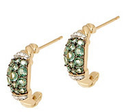 Alexandrite and Diamond Huggie Earrings, 14K, 0.80 cttw - J353543