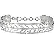 Sterling Leaf Cuff, 8.1g by Silver Style - J375743