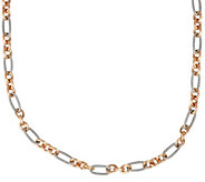 Carolyn Pollack Sterling & Brass 36L Chain Necklace - J376343