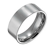 Forza Mens 8mm Steel Flat Polished Ring - J109544