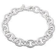 UltraFine Silver 7-1/4 Rolo Link Bracelet, 10.5g - J110244