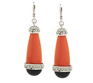 Kenneth Jay Lanes Crystal Accent Long Drop Art Deco Earrings - J271644