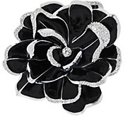 Joan Rivers Limited Edition Black Pave Gardenia Pin - J274744
