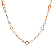 Honora Cultured Pearl 9.0mm Keshi Textured Link 18 Bronze Necklace - J288044