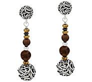 Carolyn Pollack Sterling Signature Bead & Gemstone Drop Earrings - J296644