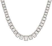 Judith Ripka Sterling 18 19.30 ct Diamonique Tennis Necklace - J297044