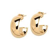 EternaGold Bold Domed Hoop Earrings, 14K Gold - J307244