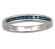 Blue Diamond Band Ring, Sterling, 1/4 cttw, byAffinity - J307644